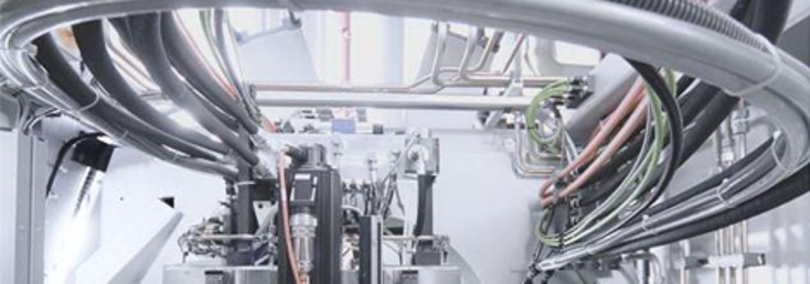 Wiring inside a Rexroth machine, products and solutions for cutting machines