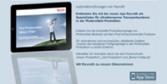 iPad App for Bosch Rexroth solar power