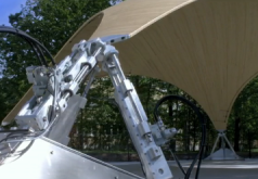 Smart Shell, Stuttgart, Germany. Maximum load capacity with minimal consumption of materials – this is how supporting structures for constructions should be today